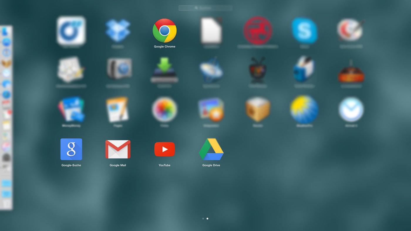 Google installiert Apps ohne zu fragen. Screenshot des Launchpad.