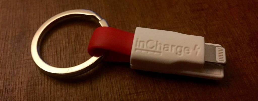 InCharge Bolt rot mit Schlüsselanhänger