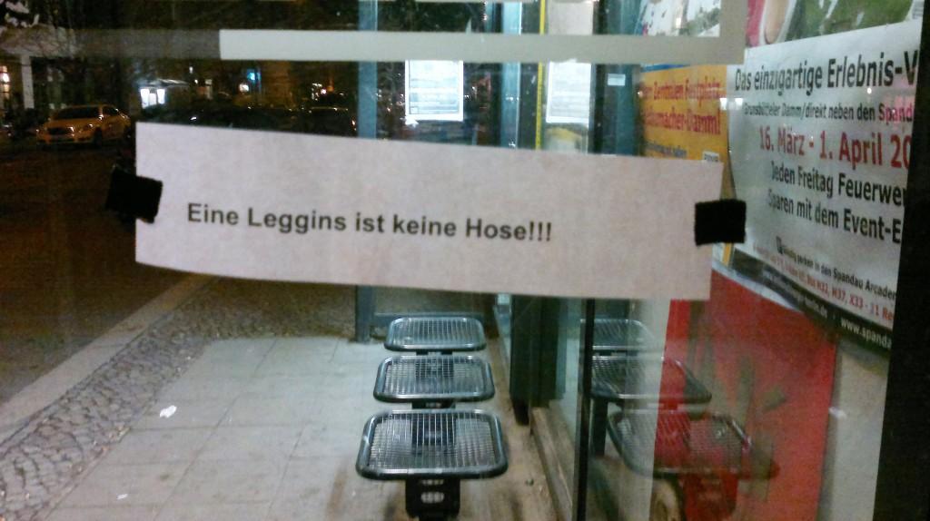 Notes of Berlin: Eine Leggins ist keine Hose