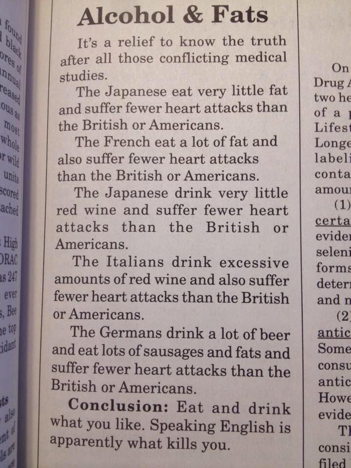 Englisch sprechen macht fett und krank.