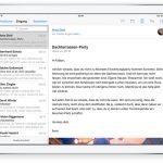 Apple Mail auf dem iPad. Werbescreenshot von Apple