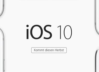 Apple iOS10 Website Screenshot