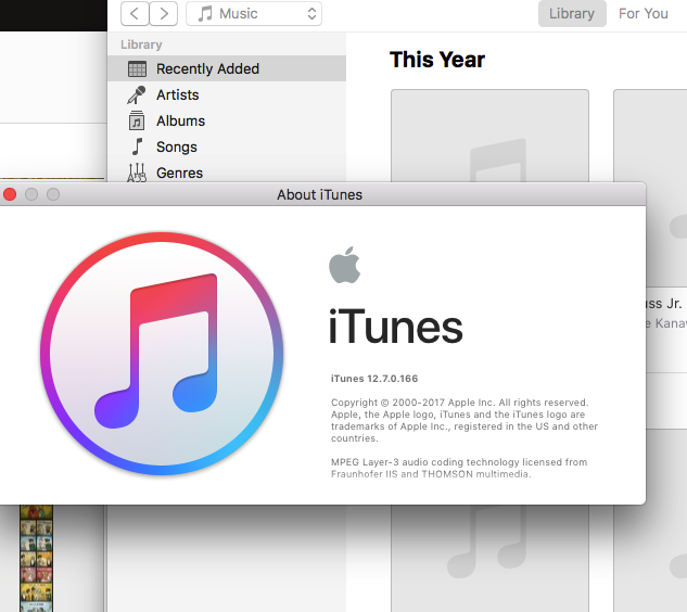 iTunes 12.7 Screenshot